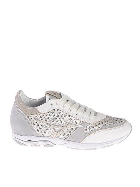 Mizuno - Zapatillas de Piel para mujer plateado plateado plateado Size: 38.5: Amazon.es: Zapatos y complementos
