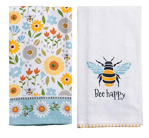 (Kay Dee Designs 2 Piece Garden Bee Kitchen Bundle - 1 Terry Towel and 1 Flour Sack)