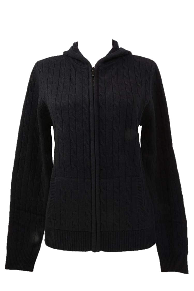 Shephe 4 Ply Womens Cashmere Jacket with Hoody Cable Knit