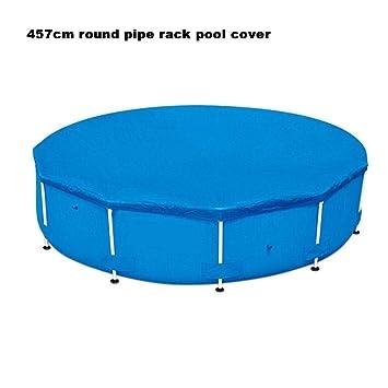 Cubierta rectangular plegable para alberca con tubo redondo para ...