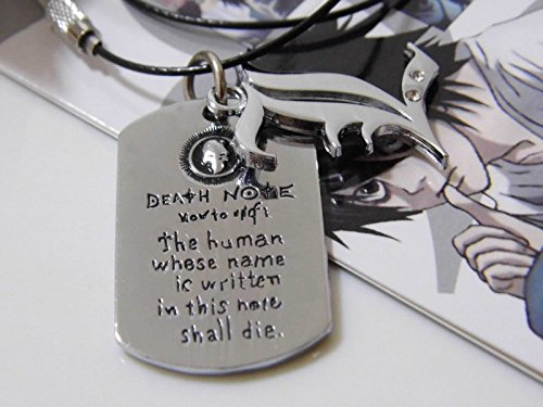 "Cool Anime Cosplay Death Note symbol ""L"" design double pendants necklace jewelry"