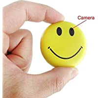 Mengshen HD Mini Spy Smile Face Badge Wearable Hidden Camera Cool Spy Gadget Mini DV DVR Camcorder Video Recorder MS-HC38