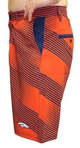 Denver Broncos NFL Diagonal Striped Men's Casual Polyester Walking Shorts