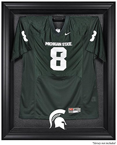 Michigan State Spartans Framed Logo Jersey Display Case by Mounted Memories