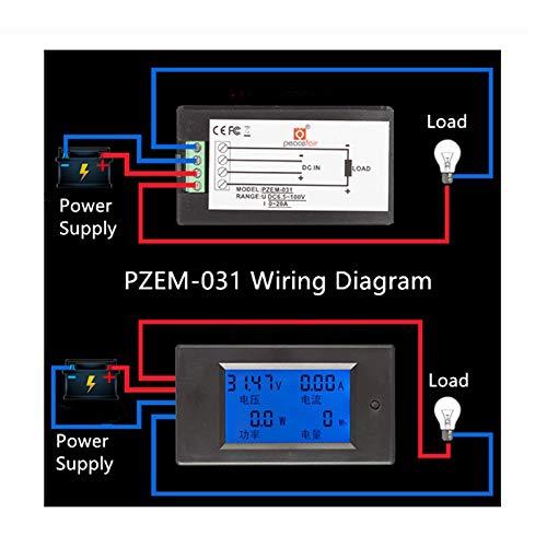 Fidgetgear Dc 6 5 100v 20a 4 In1 Digital Lcd Ammeter Amazon In Electronics