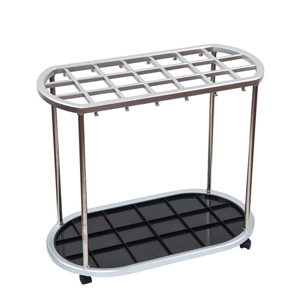 21 holes Umbrella Stand Umbrella Storage Rack, Household Multifunctional Umbrella Bucket Hotel Lobby Use (color   12 Holes)