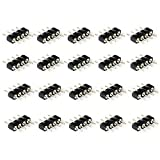 RGBZONE 40 Pcs 4 Pin Male to Male Connector for 3528 5050 RGB LED Strip Lights