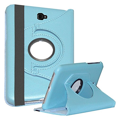 Case for Galaxy Tab A 10.1 - JYtrend Rotating Stand Case Cover for Samsung Galaxy Tab A 10.1-inch SM-T580 SM-T585 SM-T587 SM-T580N SM-T585N SM-T580NZKAXAR SM-T585NZKABTU SM-T587PZKASPR (Light Blue) (Galaxy Tab S 8-4 Cases And Covers)