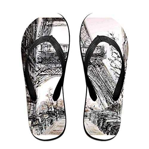 Flip Flops Paris in Fall Women's Beach Slippers Top Sandals for Men