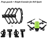 4pcs Propeller Guards + 4pcs Landing Gear Height Extender Set for DJI Spark Drone Accessories Props Guards Protector Circle Shock Absorption and Stabilizers Leg