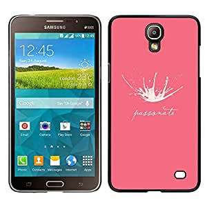 // PHONE CASE GIFT // Duro Estuche protector PC Cáscara Plástico Carcasa Funda Hard Protective Case for Samsung Galaxy Mega 2 / Milk Splash Passionate Funny Pink /