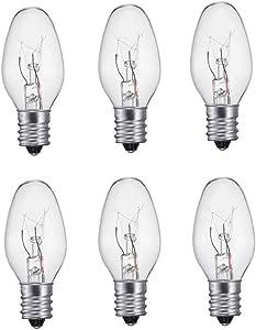 Night Light Bulb Replacement Clear Bulbs 120V - 6PC