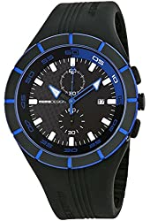 Momo Design Highway Black and Blue Dial Black Silicone Mens Watch MD1013BK-21
