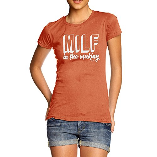 Funny T Shirts Milf In The Making Women's T-Shirt Small Orange