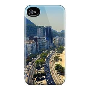Anti-scratch And Shatterproof Copacabana Rio De Janeiro Phone Case For Iphone 4/4s/ High Quality Tpu Case