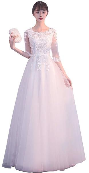 1191471eec1f1 発表会 プリンセス 二次会花嫁 海外 挙式 優雅ロング dress 総レース シンプル ウエディングドレス (