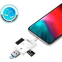 RedLemon iFlash Memoria Externa Portátil para iPhone, Android, Tablet y PC. Ranura para Tarjeta SD y Micro SD. Respalda tu Dispositivo sin conectarlo a la computadora. Sin Memoria