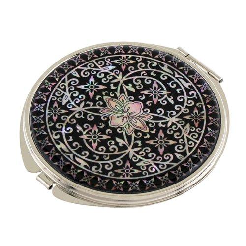 Mother of Pearl Arabesque Flower Design Black Magnifying ...