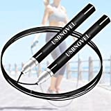 Jump Rope-Best Speed Jumping Rope for Kids,Men,Women,Premium Quality,Adjustable Self-locking design,Weighted,360 Degree Spin,Silicone Grip for Great Cardio training,Workout,Boxing,Crossfit,Fitness