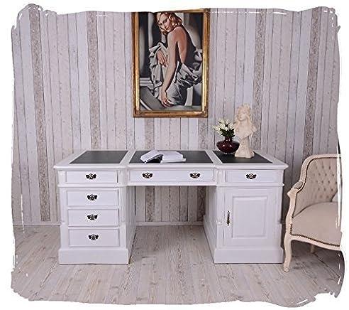 Schreibtisch weiß vintage  VINTAGE PARTNERDESK DOPPELSCHREIBTISCH SHABBY CHIC SCHREIBTISCH ...