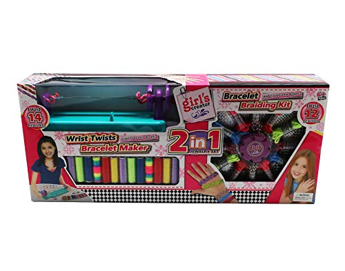 - Friendship Bracelet Making Kit by Forest & Twelfth ~ Arts & Crafts for Girls | Make 14 Twist & 12 Braided Bracelets ~Jewelry DIY Set Includes Machine, Instructions & Paper Ruler ~ Birthday Gift