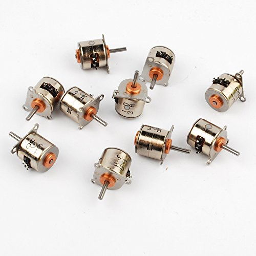 10Pcs NMB 3-6V DC 2 Phase 4 Wire Micro Stepper Motor Dia 10MM