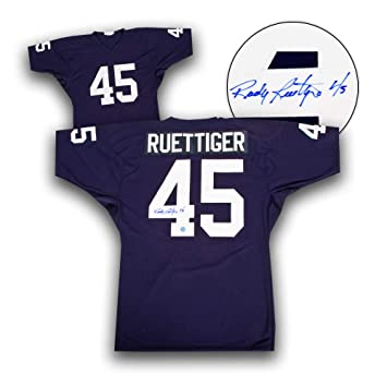 9bb0e8b9228 Rudy Ruettiger University of Notre Dame Autographed Custom Football Jersey