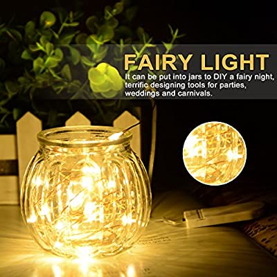 XINKAITE Led String Lights Waterproof – 9.8ft /30 LEDs Fairy String Lights Battery Operated for Indoor Outdoor String Lights Wedding, Home, Garden, Party, Christmas Decoration, 4pcs(Warm White ) : Garden & Outdoor