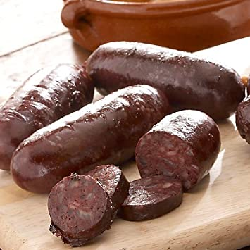 Estilo argentino Morcilla negro Sausage con cebollas: Amazon ...