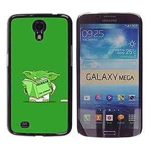 Caucho caso de Shell duro de la cubierta de accesorios de protección BY RAYDREAMMM - Samsung Galaxy Mega 6.3 I9200 SGH-i527 - Green Monster Cartoon Movie Alien Grammar