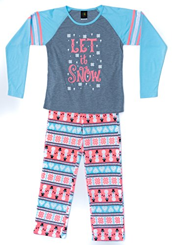 Just Love Two Piece Girls Pajamas Set,Let It Snow,10-12 ()