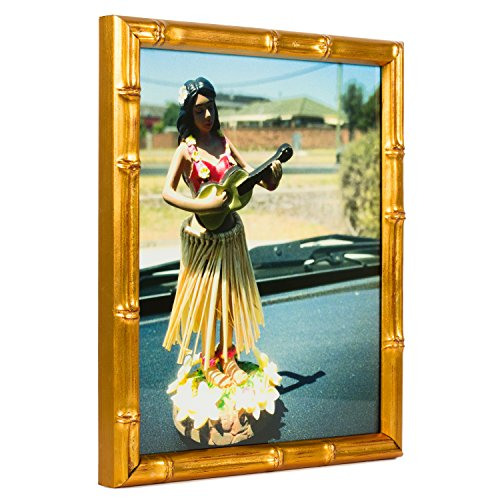 Craig Frames Vintage Gold Bamboo Composite Picture Frame, 8.5 by - Bamboo Frames