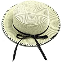 accsa Ladies and Kids Girl Natural Straw Panama Hat with Bow