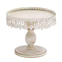 "Benzara 68766 Deco 79 Traditional Style Decorative Cake Stand, 10"" x 9"""