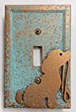 Dog/Puppy - Light Switch Cover (Aged Patina)