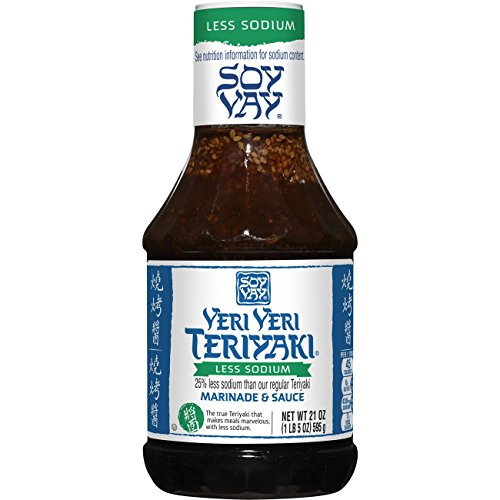 Soy Vay Veri Veri Teriyaki Less Sodium Marinade & Sauce, 21 Ounce Bottle (Soy Asian Sauce)