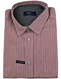 Zegna Sport Red Striped Cotton Blend Casual Button Down Shirt Size Small