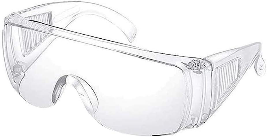 LAYX Gafas De Seguridad Gafas, Protección Ocular Gafas De Seguridad Evitan Salpicaduras De Polvo Bacteriana Gafas (2Pcs Blancos)