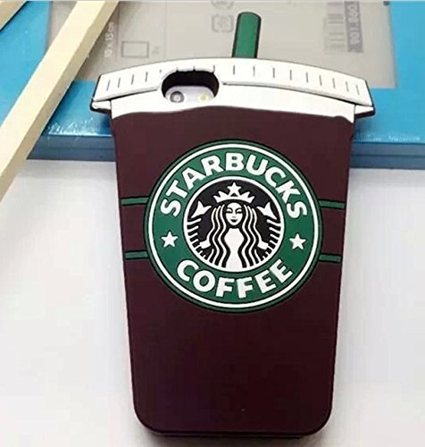 Cool Starbucks 3D Silicone Coffee Cup Phone Case Cover For Apple iPhone 6 4.7 inch ~ USA