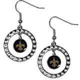 NFL New Orleans Saints Rhinestone Earrings