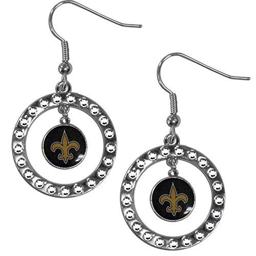 NFL New Orleans Saints Rhinestone Earrings