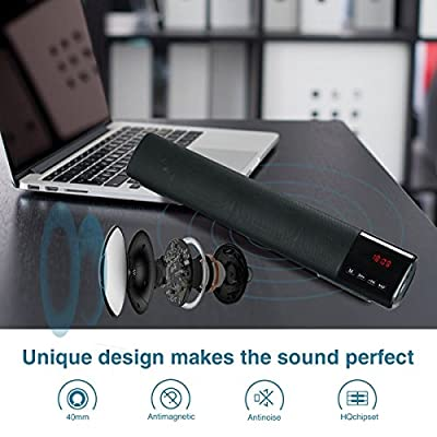 Bluetooth Speaker, Suliko 10W Bluetooth Speaker with 1800mah, Built-in Mic, Dual-Driver Portable Speaker with Superior Sound for Bedroom, Kitchen, Travel, Party