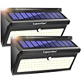 Solar Lights Outdoor 100 LEDs, Motion Sensor Wireless Waterproof Security Light, Solar Lights for Garden, Patio, Yard, Driveway, Garage, Porch, Pathway by Luposwiten (Portable LED Solar Lights)