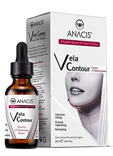 Facial Contouring Serum (Neck Firming and Tightening, Lifting V line Serum, Chin contouring, Reduce Appearance of Double Chin, Loose and Sagging Skin. Vela Contour 30 Ml)