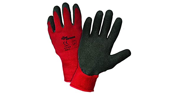 XL West Chester 701CRLB XL Zone Defense Red Poly Cotton Shell with Black Latex Crinkle Finish Pack of 12