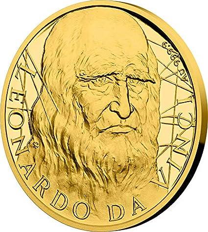 Power Coin Leonardo DA Vinci 500th Anniversary 1/2 Oz Moneda Oro ...
