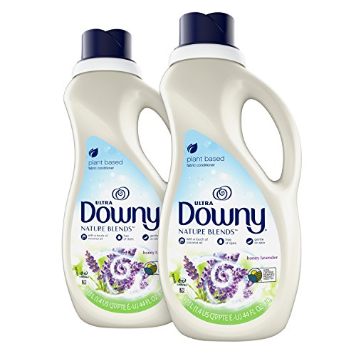 (Downy Nature Blends Liquid Fabric Conditioner & Softener, Honey Lavender, 2 Count, 44 Ounces Each)