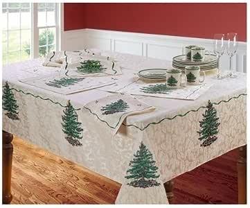 "Amazon.com: Spode Christmas Tree Tablecloth 60"" X 104 ..."