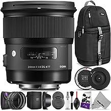 Sigma 24mm F1.4 ART DG HSM Lens for CANON DSLR Cameras w/Sigma USB Dock & Advanced Photo and Travel Bundle