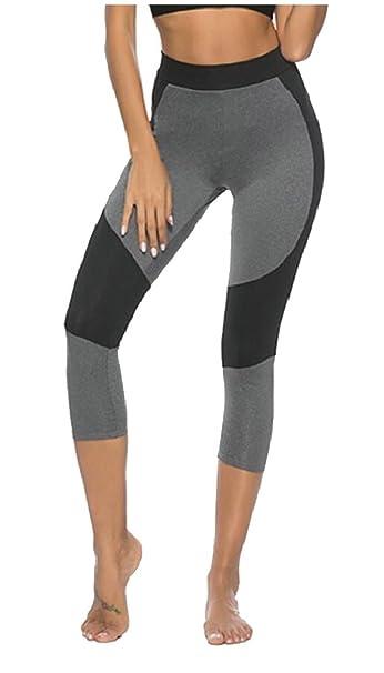 71400775dea4e Qiangjinjiu Women's High Waist Yoga Pants Gym Workout Running Leggings at  Amazon Women's Clothing store: